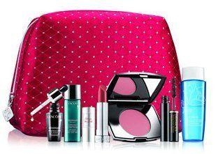 LANCOME Make-up Gift Set + Cosmetics Bag -GWP by Lancome. $36.99. Lancome seven piece gift valued at $107:  - Genifique Concentrate (8 ml) - Visionnaire (7 ml) -Rouge In Love Lipstick in Rouge Rendez Vous (0.12 oz) -Blush Subtil in Rose Romantique (0.09 oz) -Definicils Mascara in Black (0.07 oz) -Bi-Facil (1.7 oz) -Cosmetic bag
