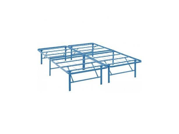 Moder Modway MOD 5428 LBU Horizon Full Stainless Steel Bed Frame In Light Blue 30 Best Modern Folding Beds Ideas For Small Homes