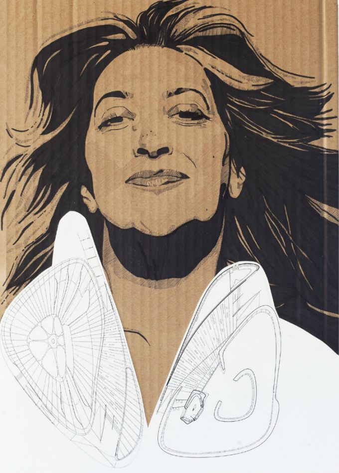 Zaha Hadid. Chanel Mobile Art. Din-A3 (297x420 mm) by Ana Cubas.