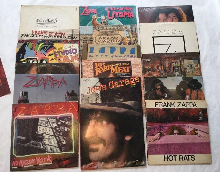 Frank Zappa Lot 20 LP's Live Beefheart Mothers Hot Rat Overnight Moon Zappa Wazo   eBay