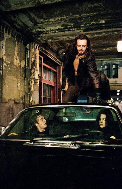 Still of Kate Beckinsale, Scott Speedman and Michael Sheen in Underworld