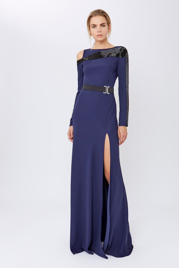 Focus Midnight Long Dress | Amanda Wakeley