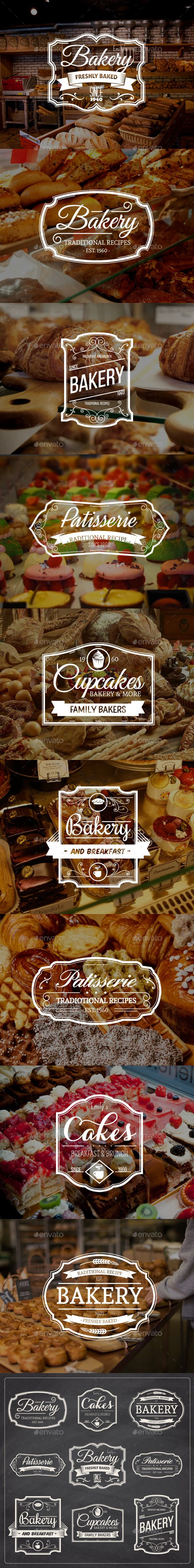 9 Vintage Bakery Badges Template Vector EPS, AI. Download here: http://graphicriver.net/item/9-vintage-bakery-badges/15810081?ref=ksioks