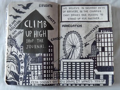Wreck this journal, climb up high drop the journal, divergent series, wtj