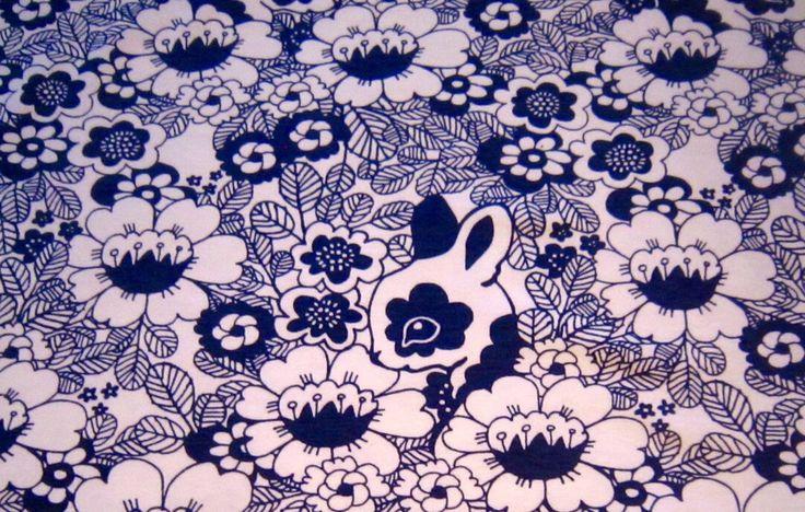 A rabbit hiding by Leena Renko for Seliashop
