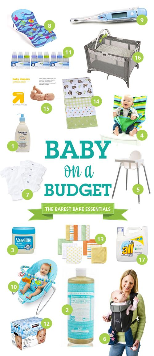 Baby on a Budget – The Barest Bare Essentials