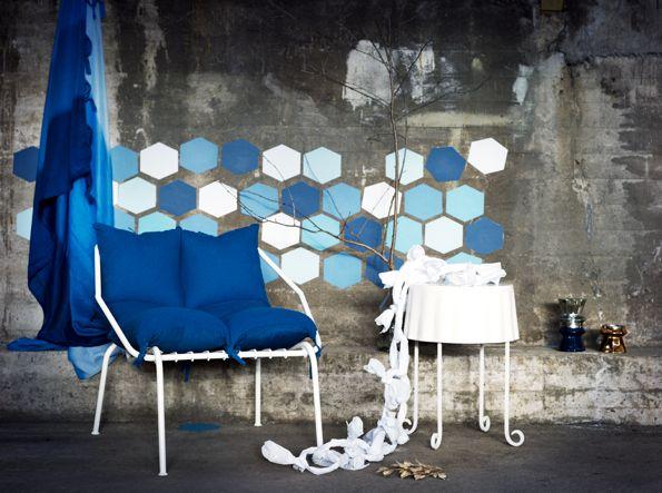 hexagonKollekt Blå, Blue Collection, Limited Editing, True Blue, Interiors Design, Royal Blue, Modern Interiors, Modern House, Ikea Limited