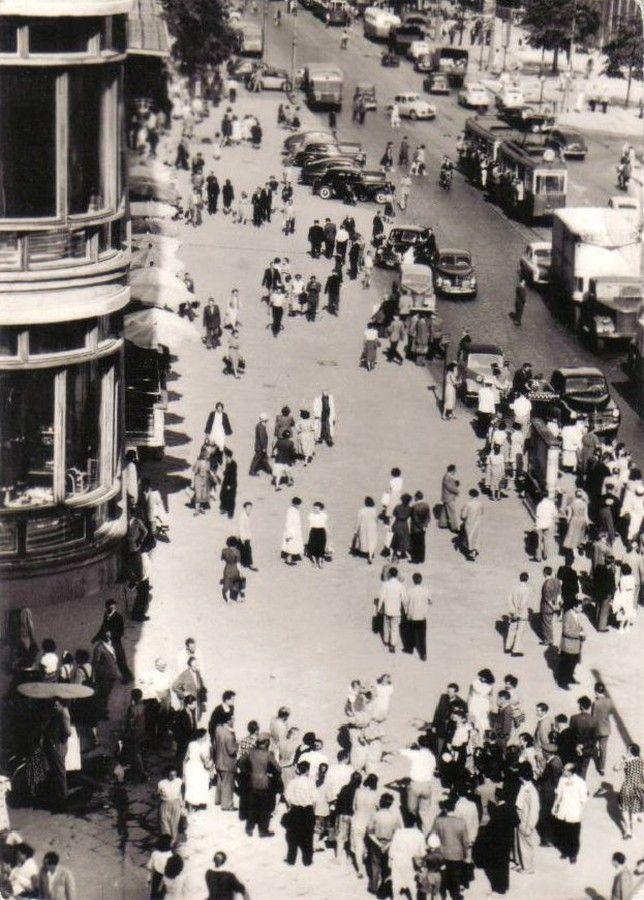 1955 , Aleje Jerozolimskie, z lewej strony fragment CDT