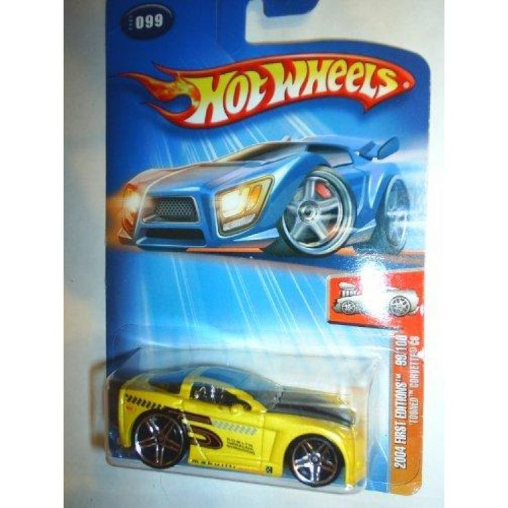 2004 - Mattel - Hot Wheels - First Editions - 'Tooned Corvette C6 - Collector #099 - Yellow - Variant: Black #5 On Side Tampo / New - Out of Production - Limited Edition - Collectible  Features : 2004 - Mattel - Hot Wheels - First Editions - Collector #099 *'Tooned Corvette C6 - Yellow - Tinted Windows - Chrome Interior *Variant: Black #5 Onside Tampo - Wording on Cardboard *Out of Production - 1:64 Scale Die Cast Metal *New - Mint - Rare - Limited Edition - Collectible  Color : Yellow…