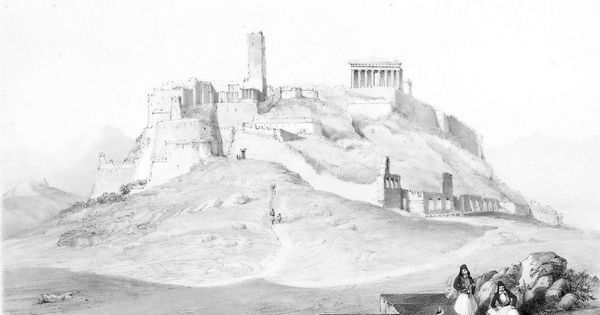"""View of Acropolis"" by Henry Cook, c. 1850. Private collection"