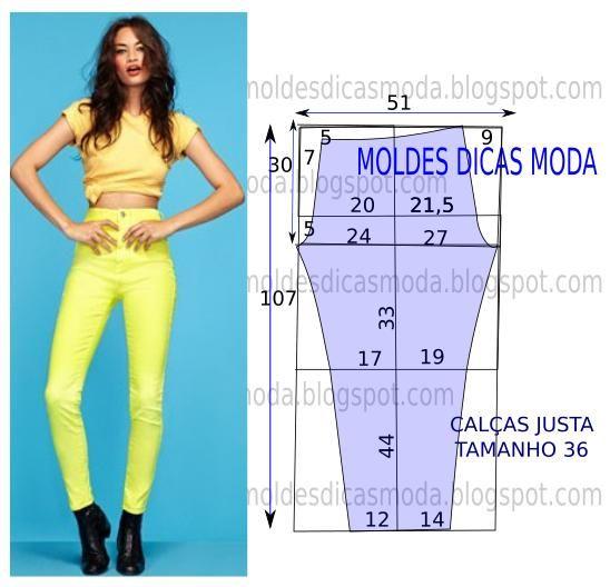 MOLDE DE CALÇA FÁCIL -14 - Moldes Moda por Medida