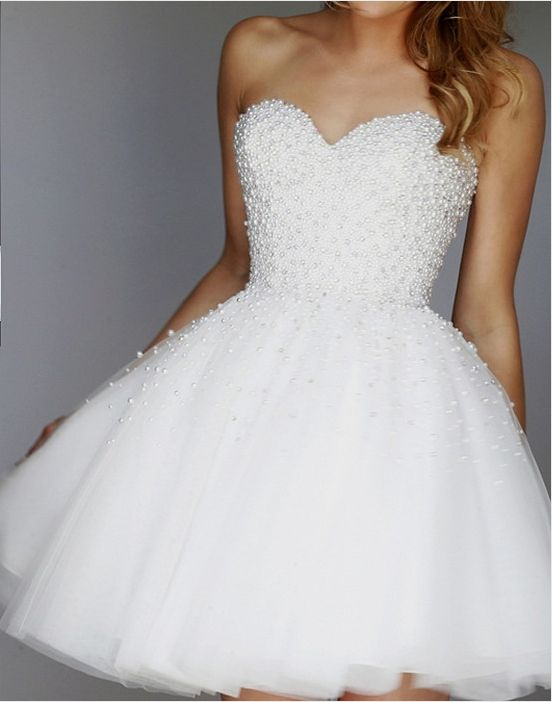 White Beading Homecoming Dress,Sexy Party Dress,Charming Homecoming Dress,Cheap Homecoming Dress,Homecoming…