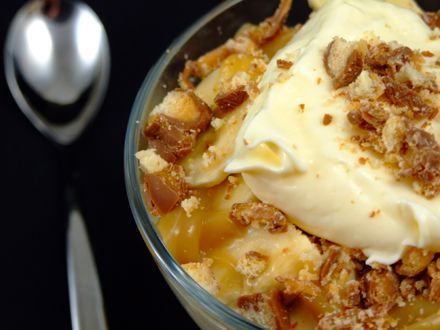 Desert rapid cu banane si crema de vanilie - Desert rapid cu banane si crema de vanilie