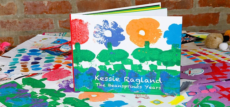 Genius!: We take the overwhelming piles of artwork your pint-sized Picassos bring home from school or art class and transform them into simple, yet elegant, coffee table books.