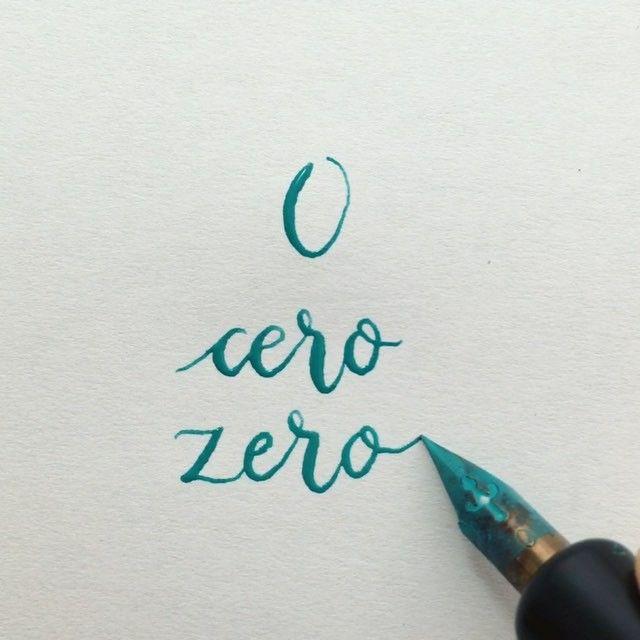 ~ Always count zeros to the right ~ Contemos siempre ceros a la derecha #readbetweentheletters  #calligraphy #caligrafia #0 #cero #zero #speedball #pluma #ink #speedballink #numbers #numeros #numberscalligraphy #caligrafianumeros