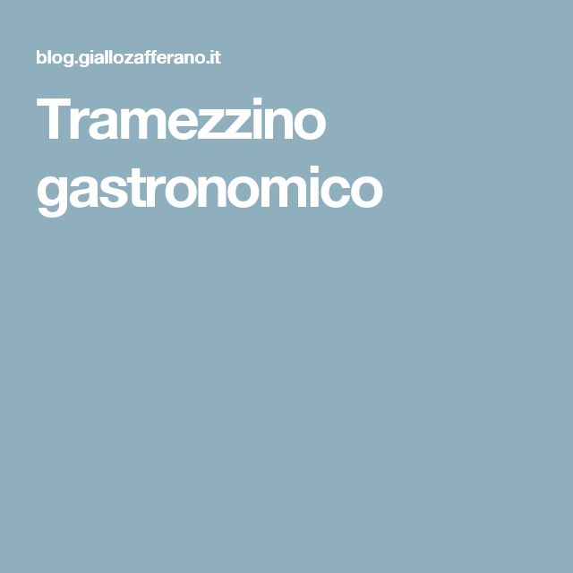 Tramezzino gastronomico
