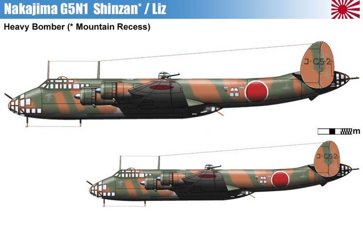 Ja Strategic Bombers  Nakajima G10n Fugaku  G8n Renzan N