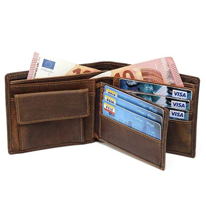 d02d946a2f18fd RFID BLOCKING Herren Geldbörse echtes Leder Cowboy Bifold Brieftasche  Braun: Amazon.de: Koffer