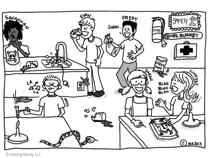 about lab safety with a do's and don't's activity - a fun comic of lab ...