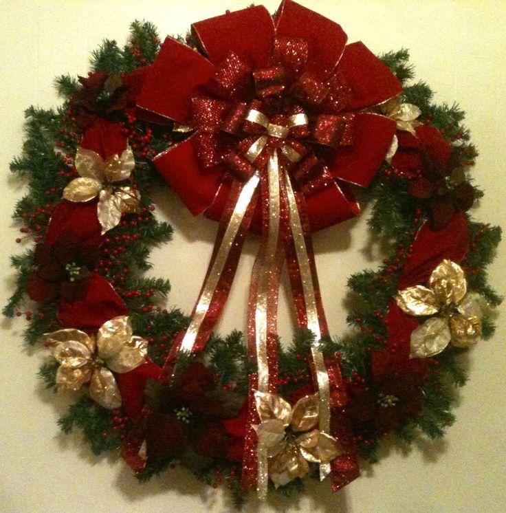 Large Elegant Christmas Wreath | Melissa Randazzo Designs ...