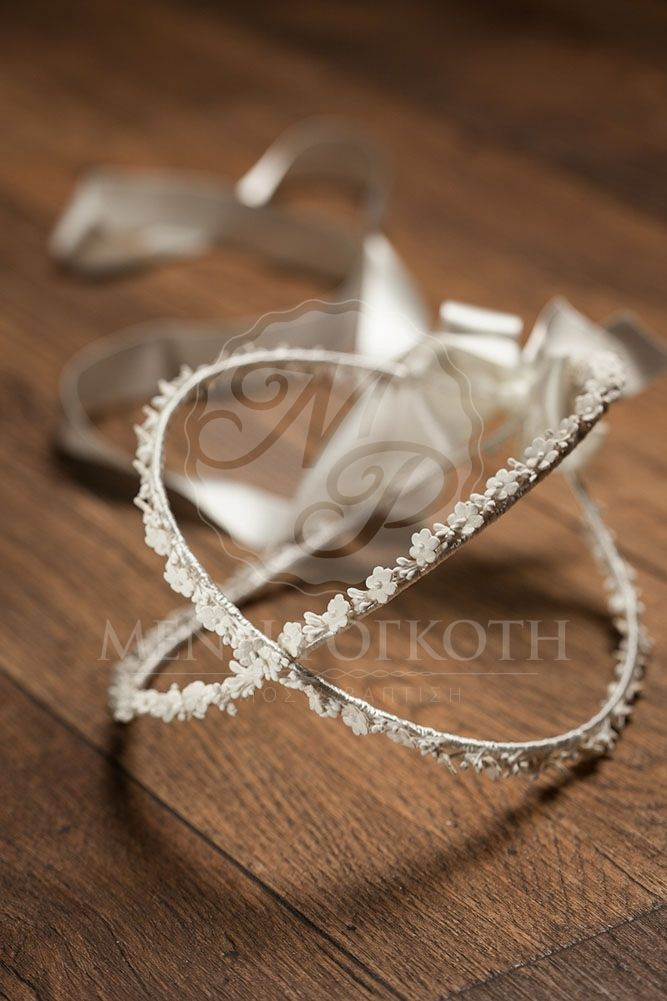 Classic leather wedding crowns - stefana