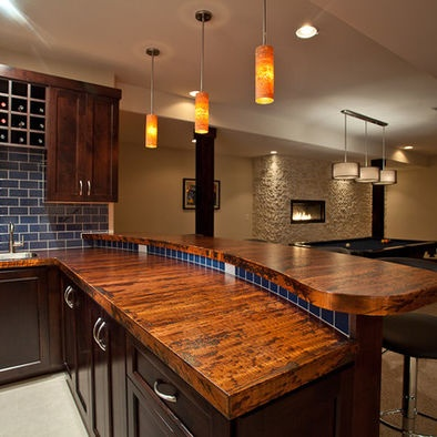 Wood counter bar top ideas for building our home pinterest - Wooden bar counters for home ...
