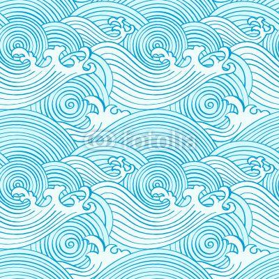 Ocean waves wall mural.