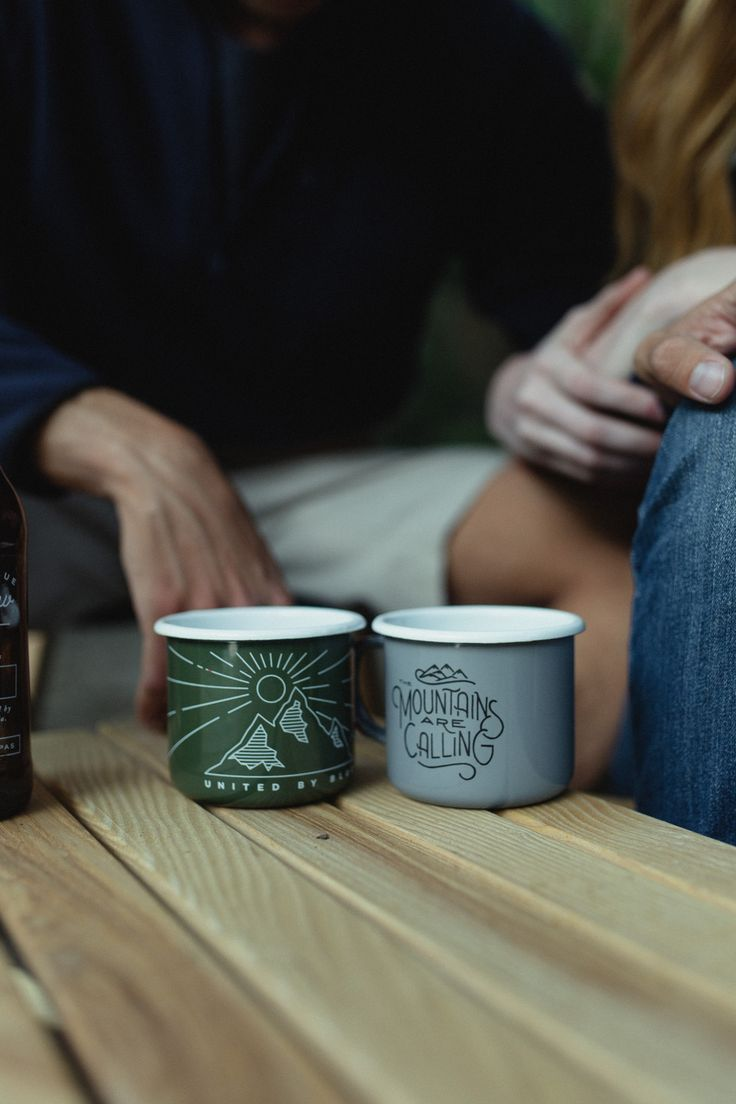 The John Muir + Wilderness Enamel Steel Mugs