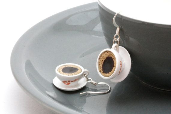 Cups of Joe Earrings  Miniature Realistic Cups of by Pinkkis, $10.00