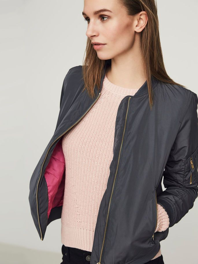 The ombre blue bomber jacket