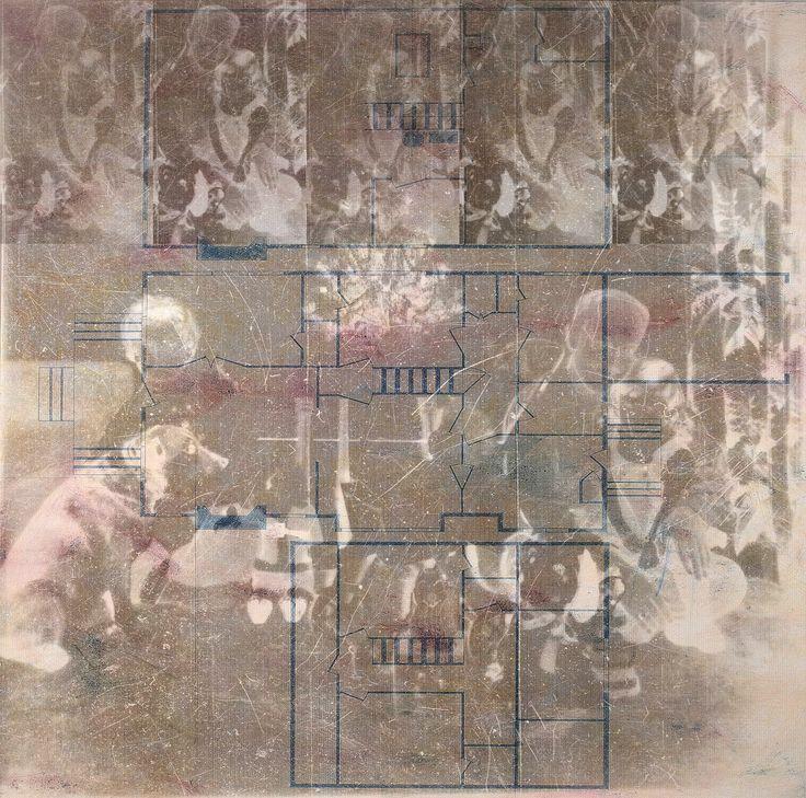 """Still life Memory: 421 Tilden"" Artista: Sandy Lane, impresión digital: dibujo de planos y negativo, 21.5x28 cm, 2015 + PA"