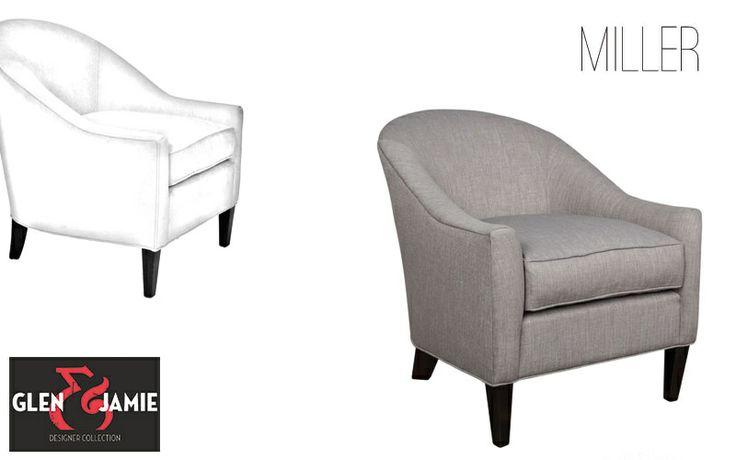 Miller chair from Glen and Jamie's designer collection #GlenandJamie #furniture #design #chairs