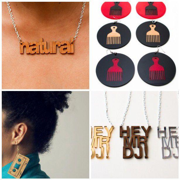 afro pick and drop afro pick and drop afro pick earrings ...
