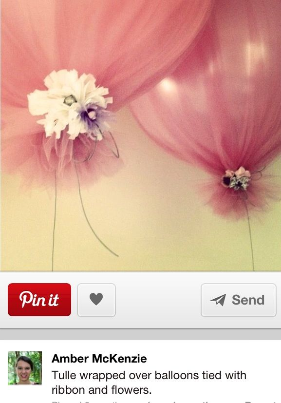 Balloon with tulle