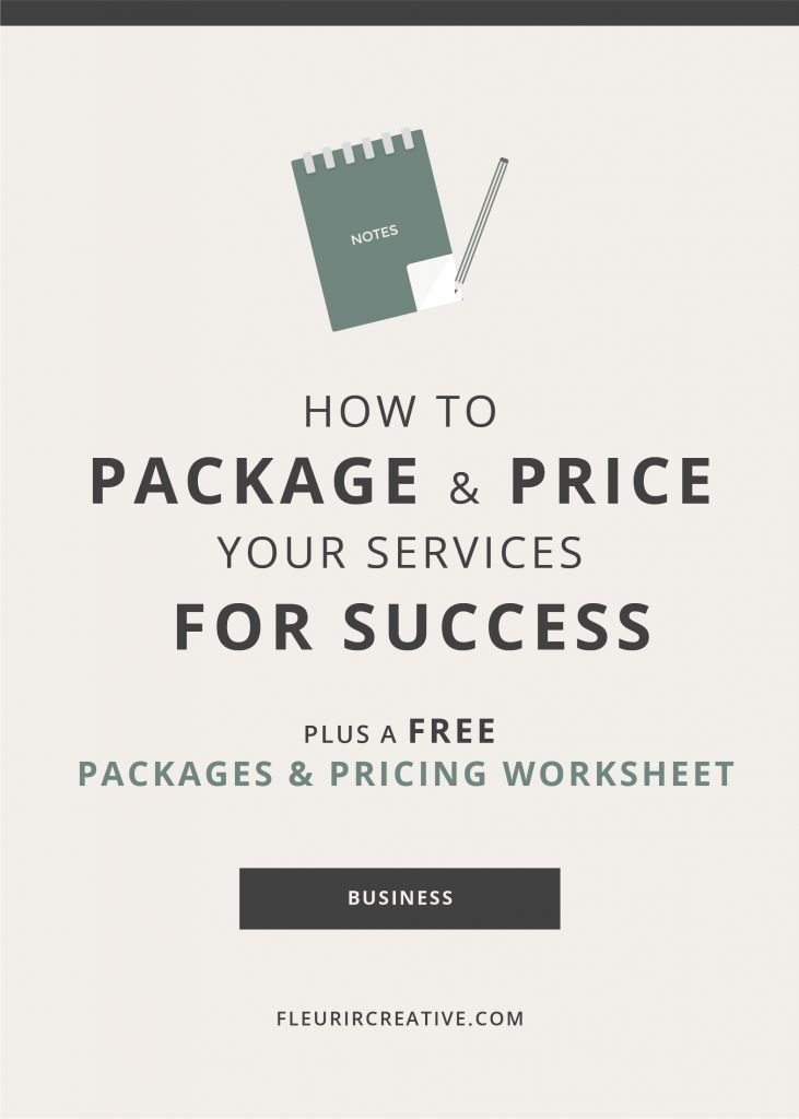 How to Package and Price your Services for Success