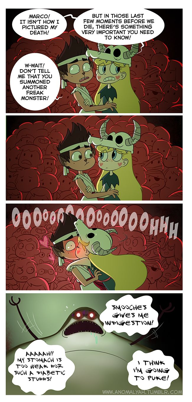 Here Larry! I would make you throw up like this! ಠ◡ಠ No regrets, it's just an insane Starco version of 21th episode (~ ̄▽ ̄)~ p.s. I'm in the crowd …do you find me? 8D