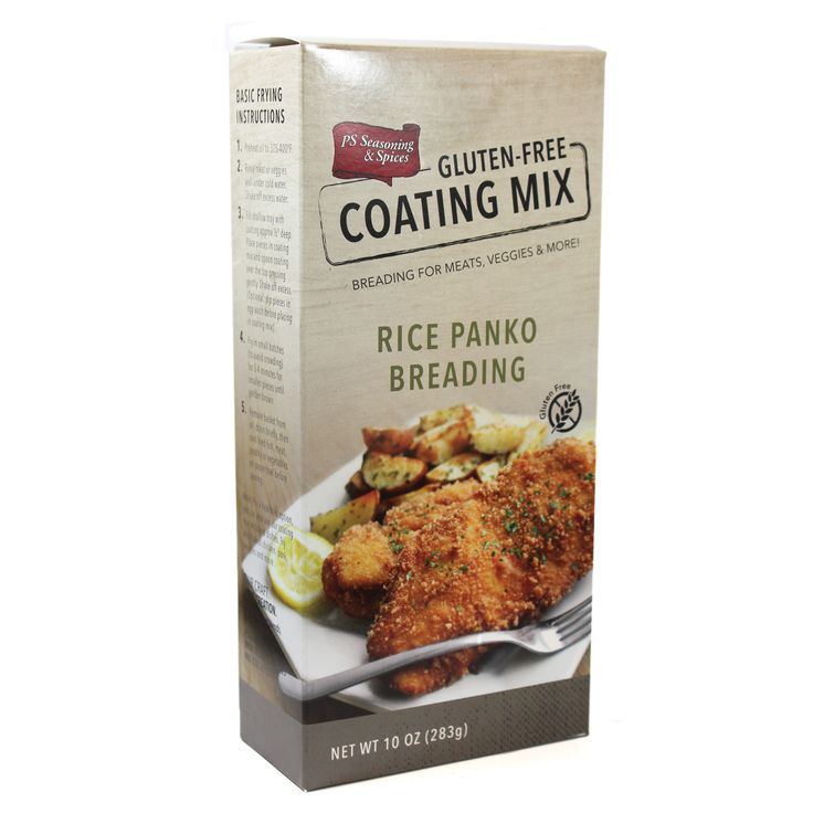We created a pleasant coating using rice panko crumbs which are not only known for being gluten-free, but also provide a superior crisp coating to foods, especially when fried. Our lightly seasoned pa
