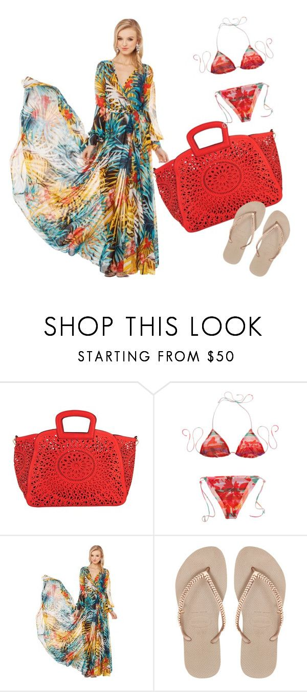 """""""Miami Beach Day"""" by perezgloria-1 ❤ liked on Polyvore featuring moda, Melie Bianco, Missoni Mare, Havaianas, women's clothing, women's fashion, women, female, woman i misses"""