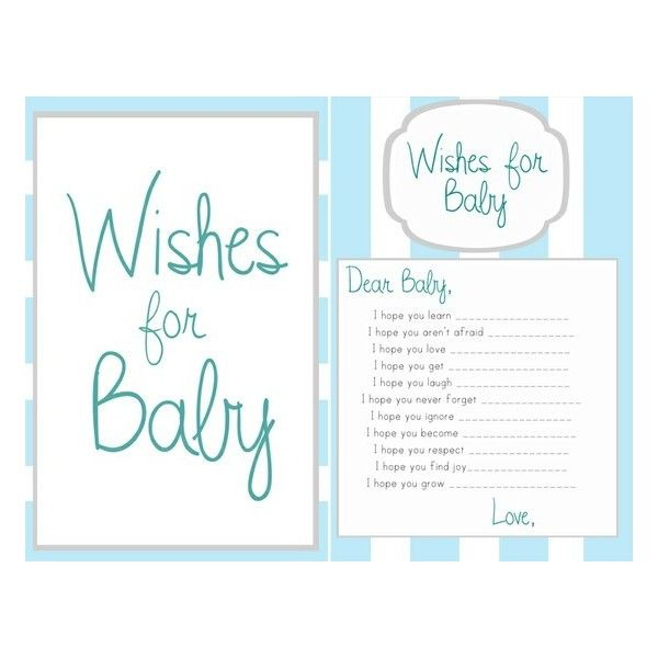 Ideas wishes for baby boy template found on polyvore for Wishes for baby printable template