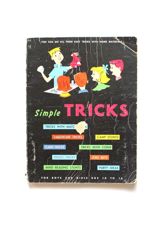 Vintage 1955 Magic Tricks Book for Kids with some Awesome Tricks!