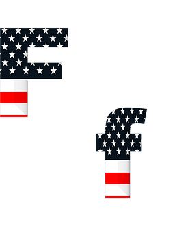 Levél, Abc, Ábécé, Amerikai, Zászló