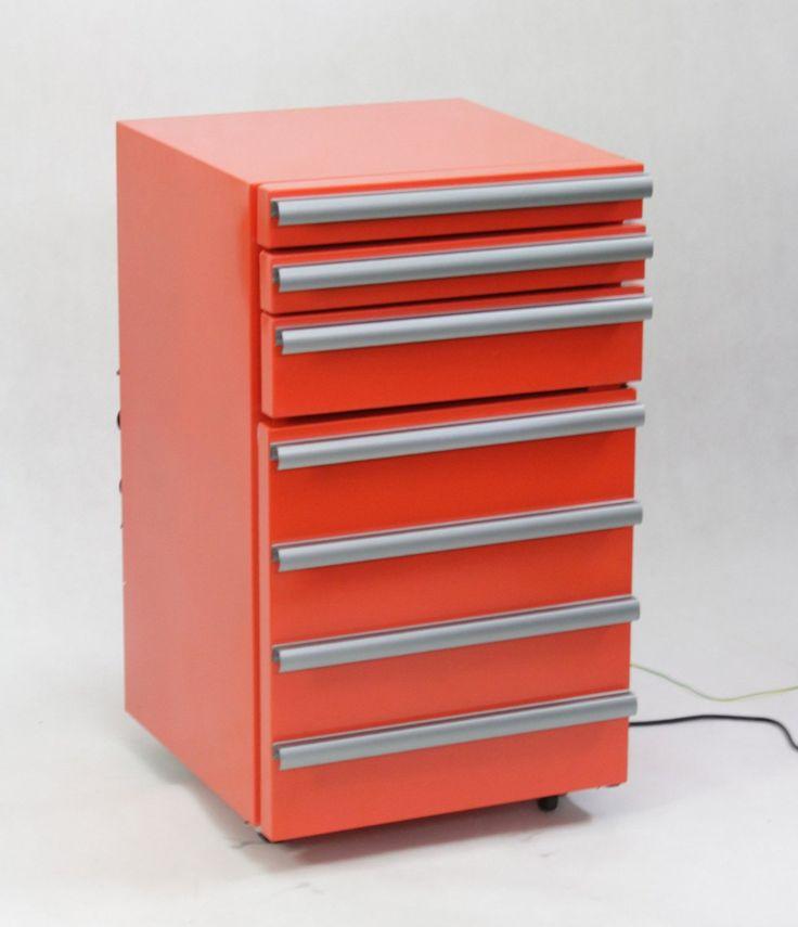 Amazon.co.jp: ツールボックス型冷蔵庫(工具箱風の引き出し付き小型冷蔵庫)JGA-SC50-3: DIY・工具
