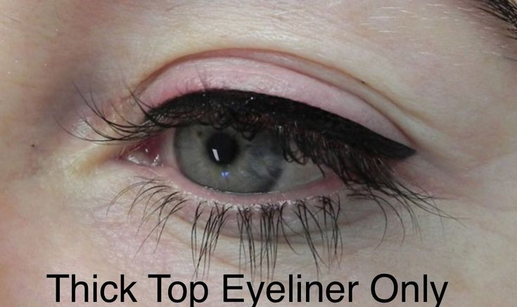 Thick upper permanent eyeliner - actual client