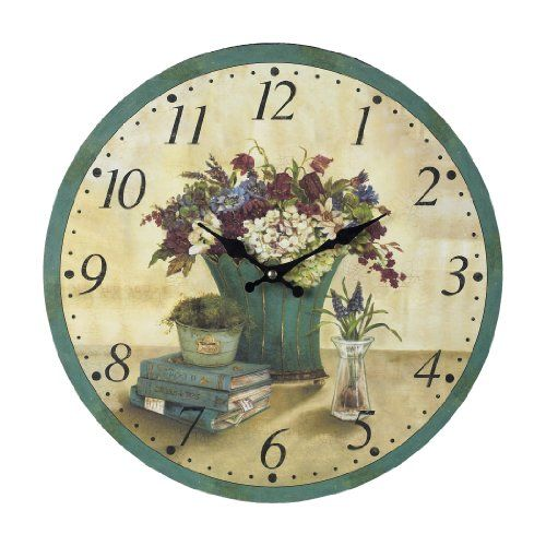 Sterling Home Wood Bouquet Clock ** You can find out more details at the link of the image.