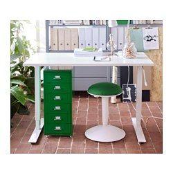 HELMER Ladeblok op wielen, groen - 28x69 cm - groen - IKEA