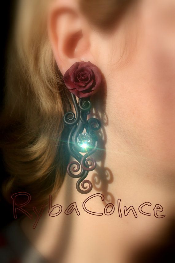 Fake ear gauge / Faux gauge/Gauge earrings / fake by RybaColnce, $70.00