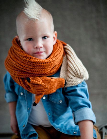 red fox scarf for kids by Ninafuehrer on Etsy