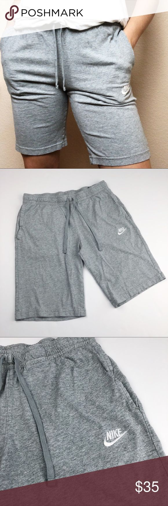 Nike Old School Grey Biker Sweat Shorts •in great gently used condition  •3 ...