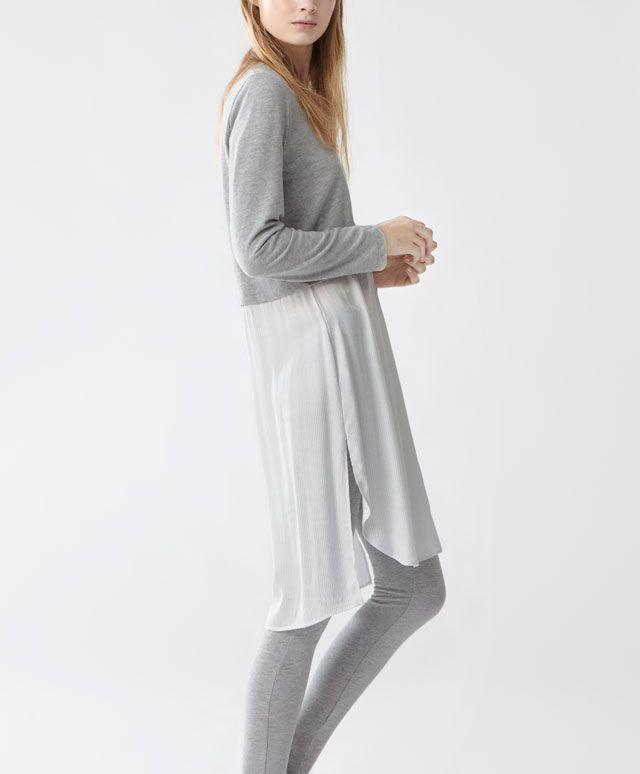 Camicia da notte maniche lunghe righette - Camicie Da Notte - NOTTE | Oysho