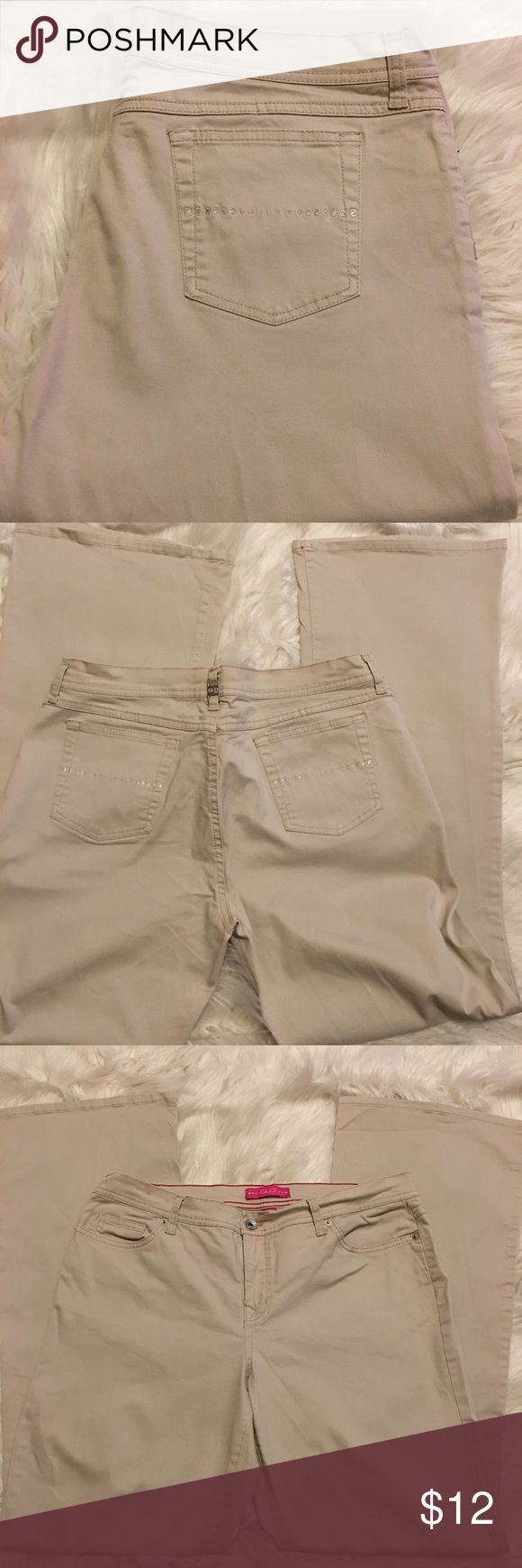 Khaki Boot Cut Stretch Pants/Jeans Size 15, boot cut, khaki stretch jeans in good condition barely worn GLO Jeans Boot Cut